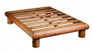 somier madera rústico de troncos
