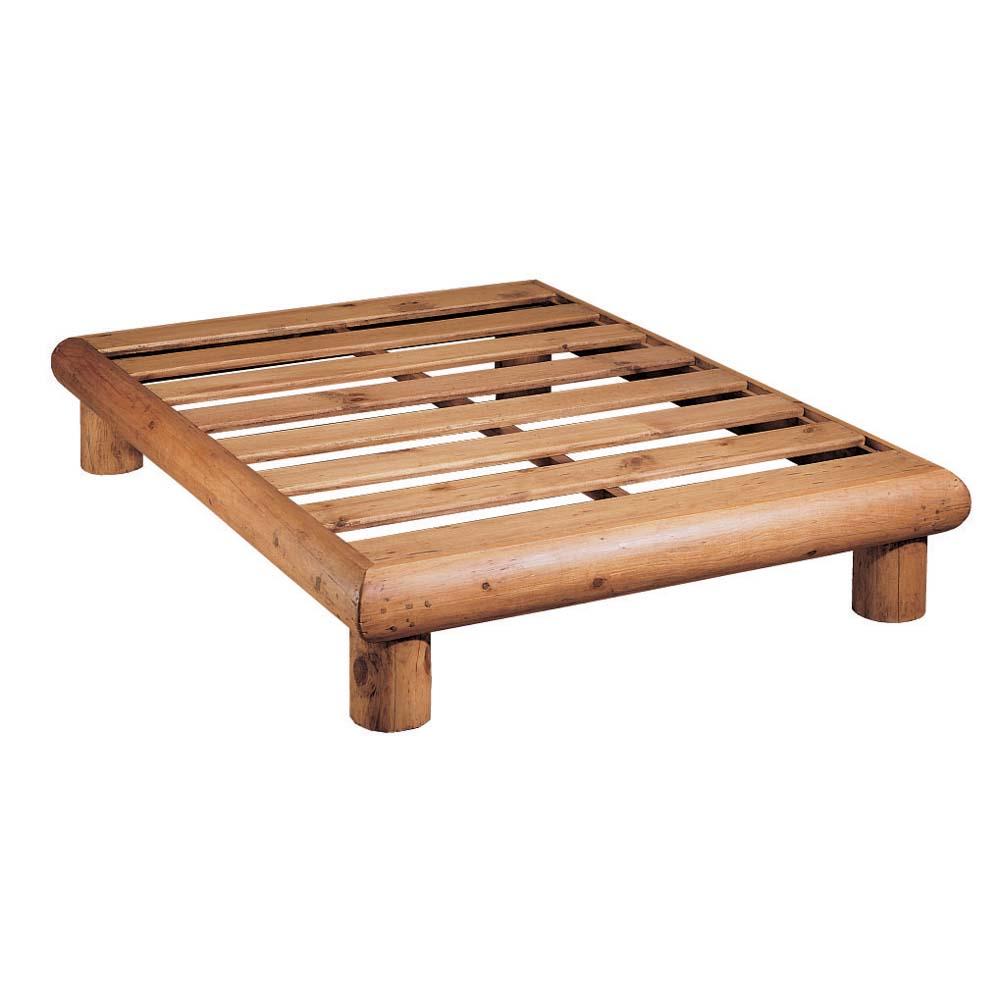 cama rústica de troncos
