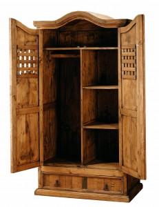 armario madera maciza 2 puertas