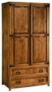 armario de madera rústico 2 puertas