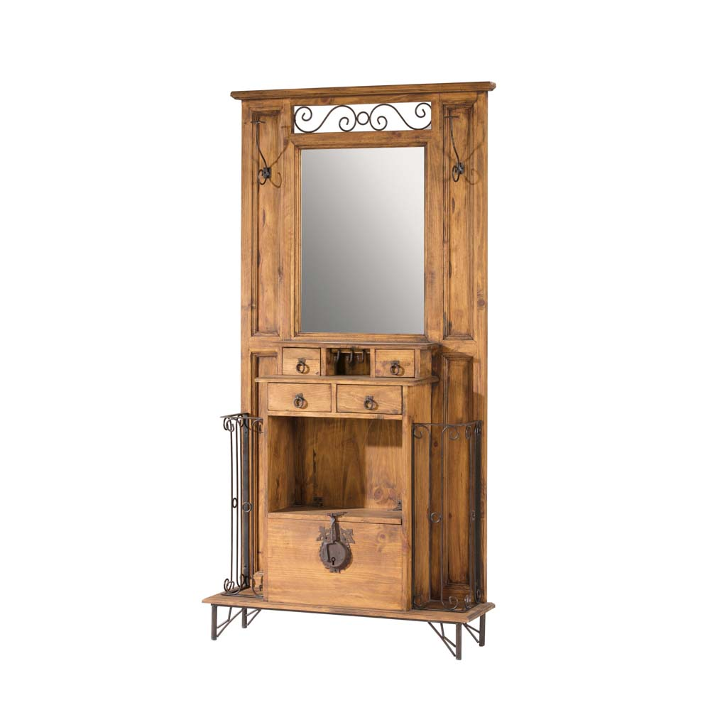 Recibidor r stico 31010 myoc f brica de muebles - Mueble recibidor rustico ...