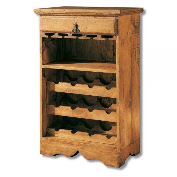 botellero madera rústico