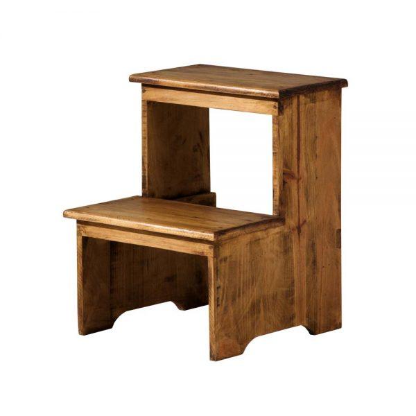 taburete escalera de madera