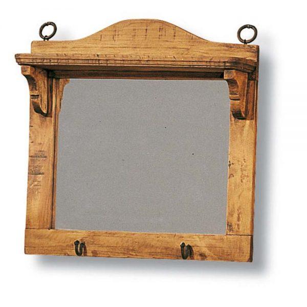 mueble porta llaves madera espejo