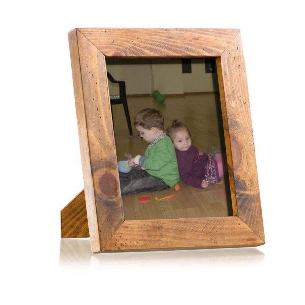 marco de fotos de madera