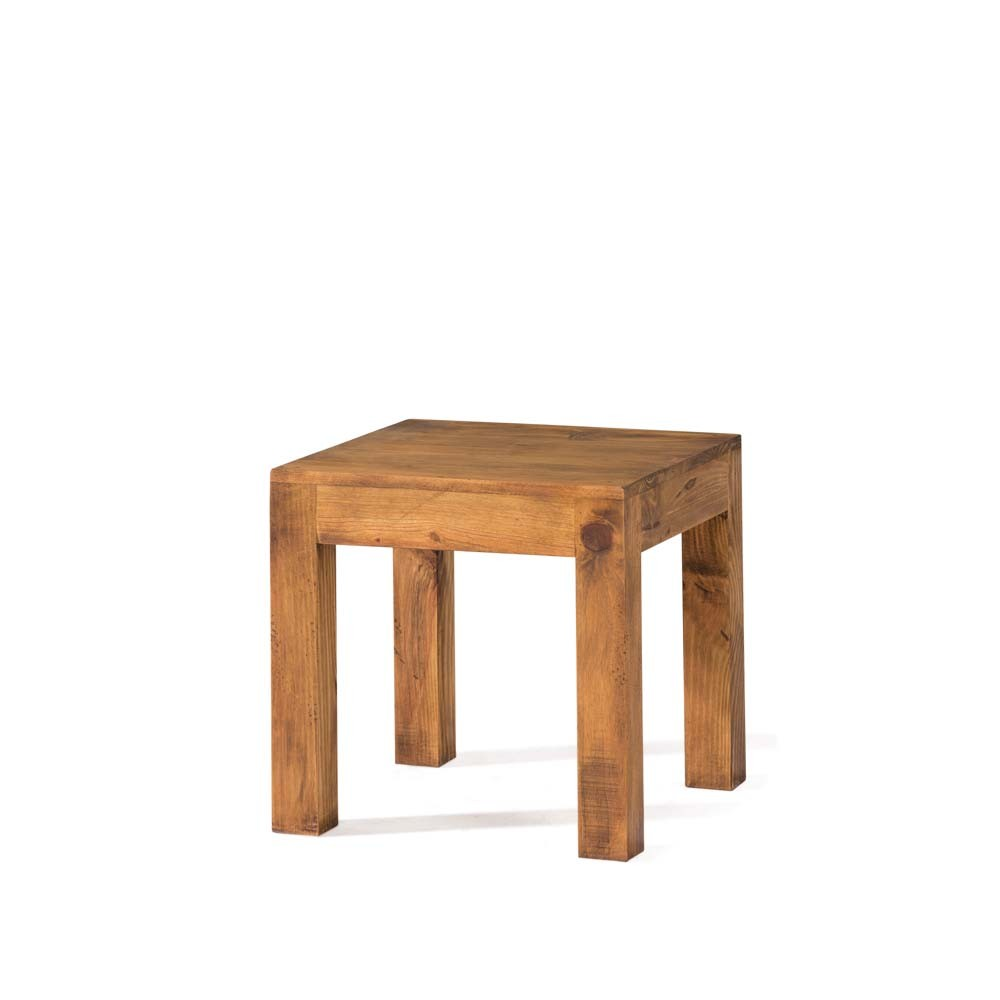 Mesa lateral r stica myoc f brica de muebles r sticos - Mesa rustica madera ...