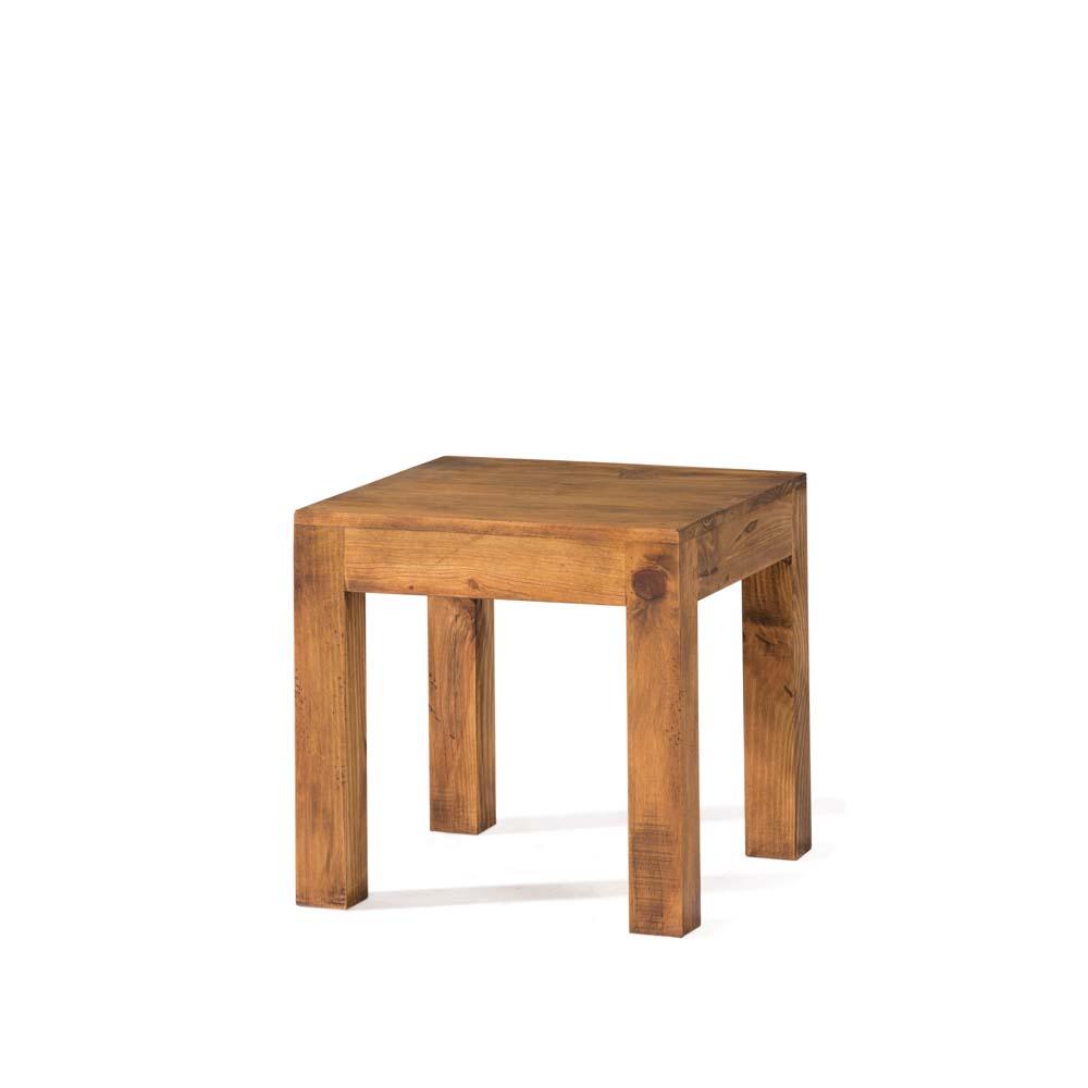 Mesa lateral r stica 35057 myoc f brica de muebles for Mesa madera maciza rustica