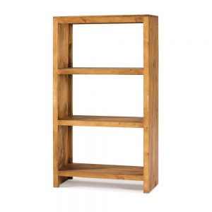 librería rústica de madera maciza