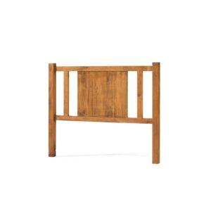 cabecero rústico de madera
