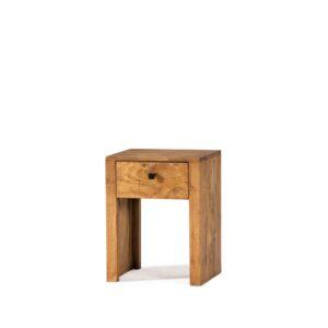 mesita rústica noche madera maciza
