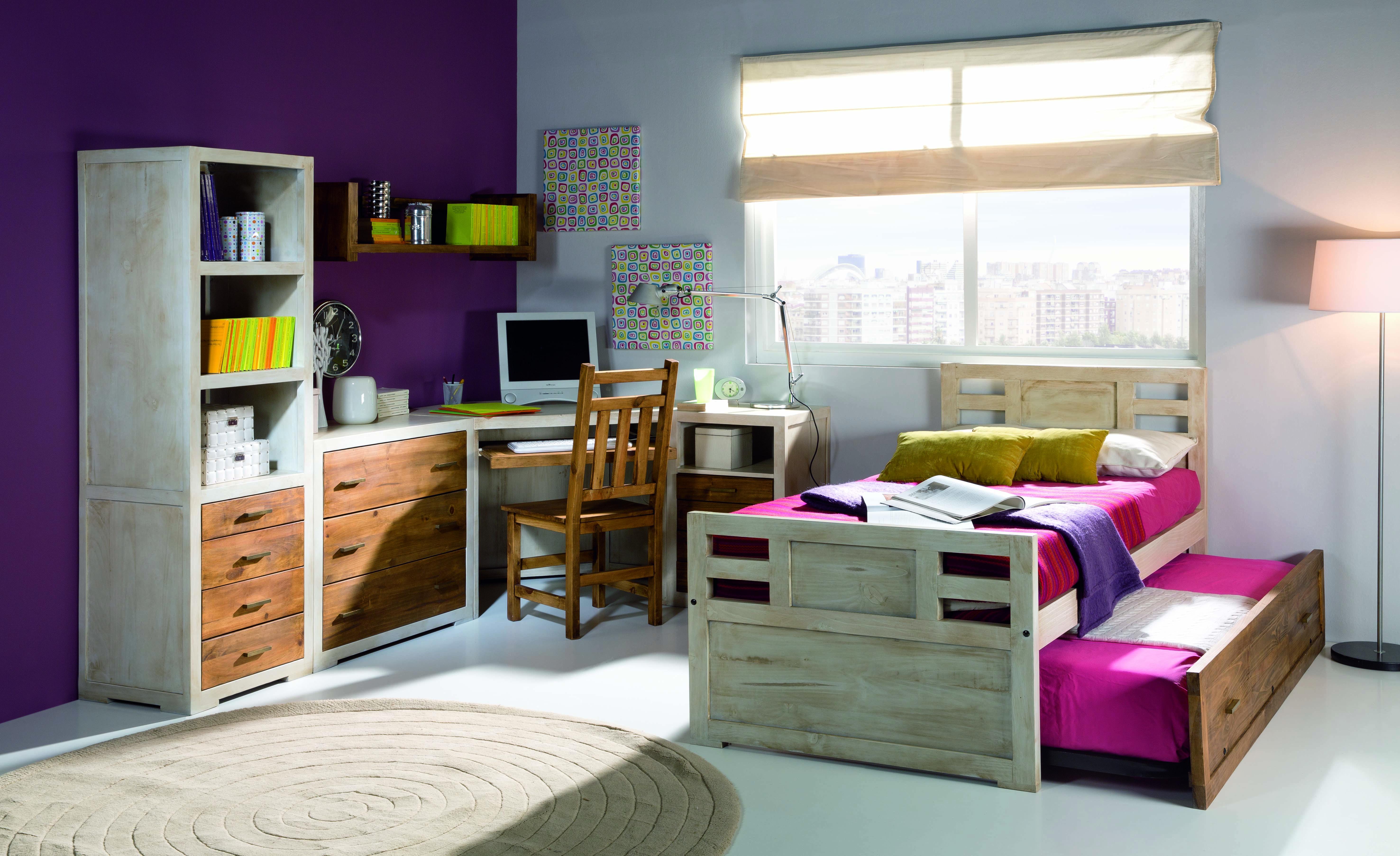 dormitorio juvenil de madera