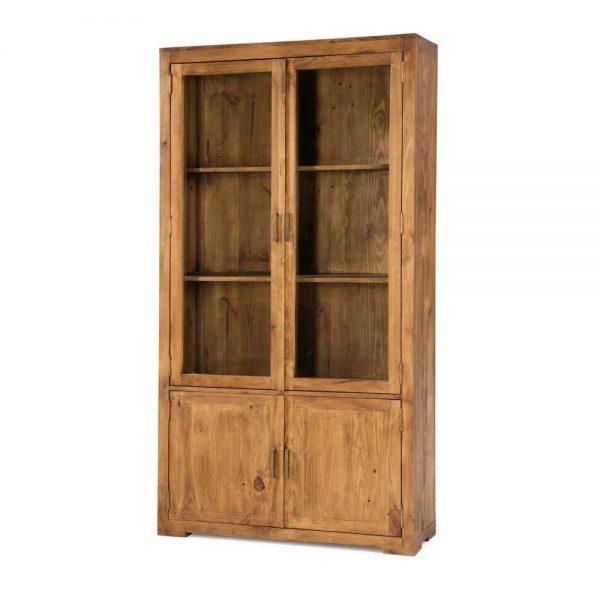 vitrina rústica acristalada