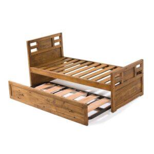 cama rústica con arrastre