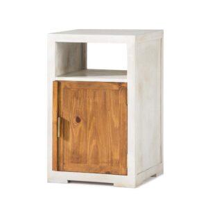 cómoda de madera en blanco