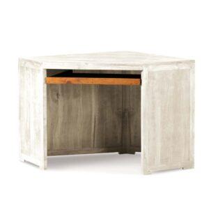 escritorio esquinero de madera en blanco