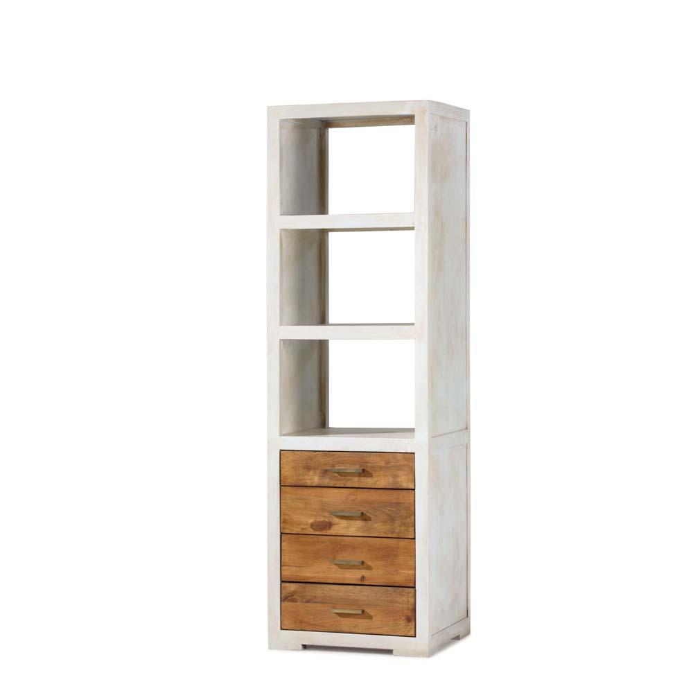Librero r stico blanco myoc f brica de muebles r sticos - Muebles rusticos en blanco ...