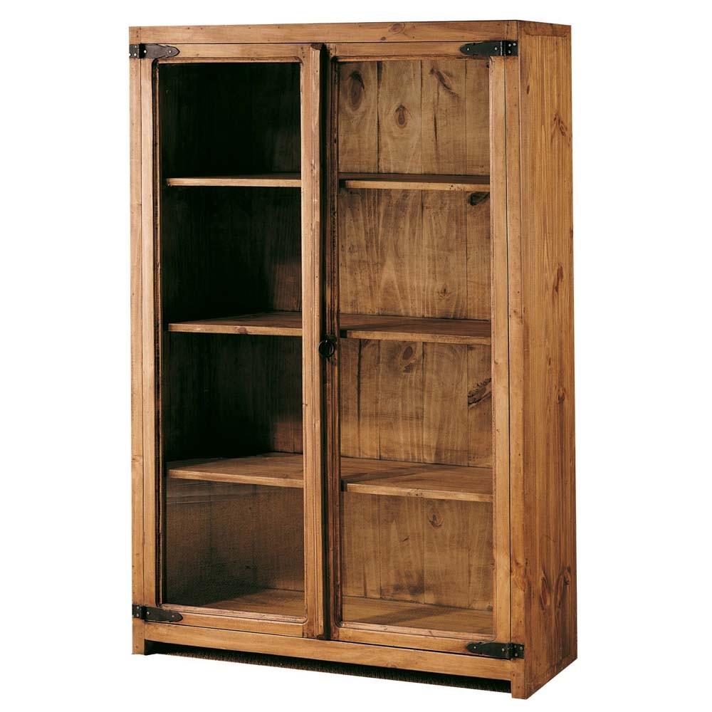 Vitrina modular r stica myoc f brica de muebles - Fabrica muebles madera ...