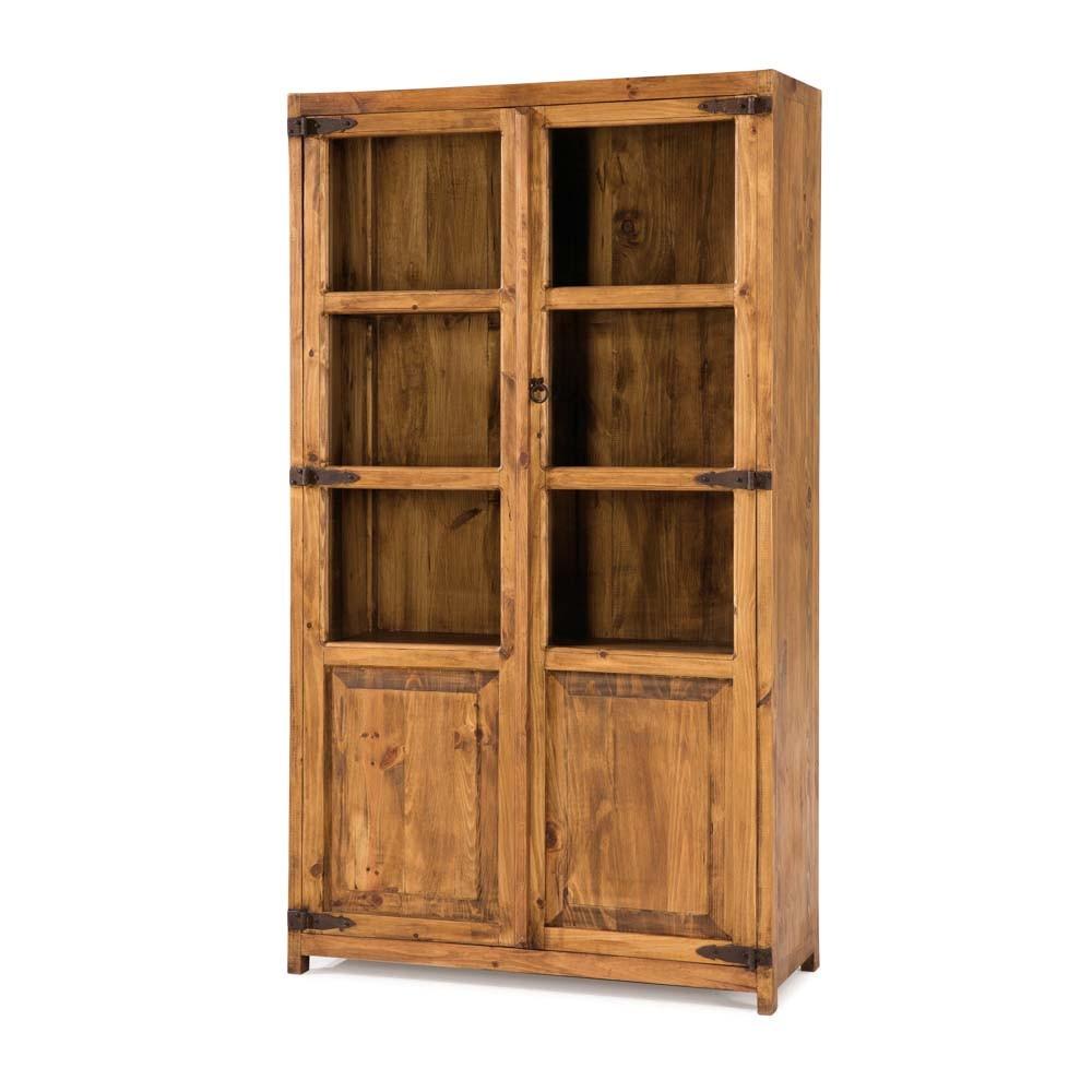 Vitrina modular r stica 45023 myoc f brica de muebles r sticos 100 madera maciza - Vitrinas rusticas ...