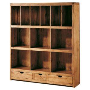 Librer as r sticas de madera maciza 100 natural for Catalogo de muebles de madera para el hogar pdf