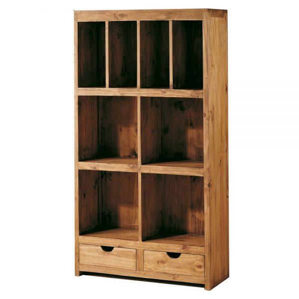 mueble para libros rústico