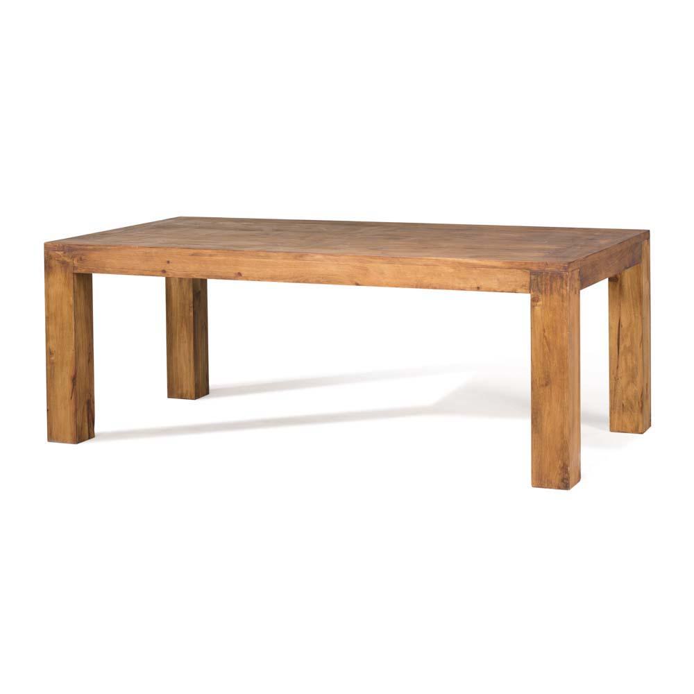 Mesa de comedor r stica 50014 myoc f brica de muebles for Mesa madera maciza rustica
