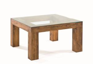 mesa comedor rústica tapa de cristal