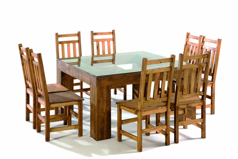 mesa de comedor madera con tapa cristal - MYOC. Fábrica de ...