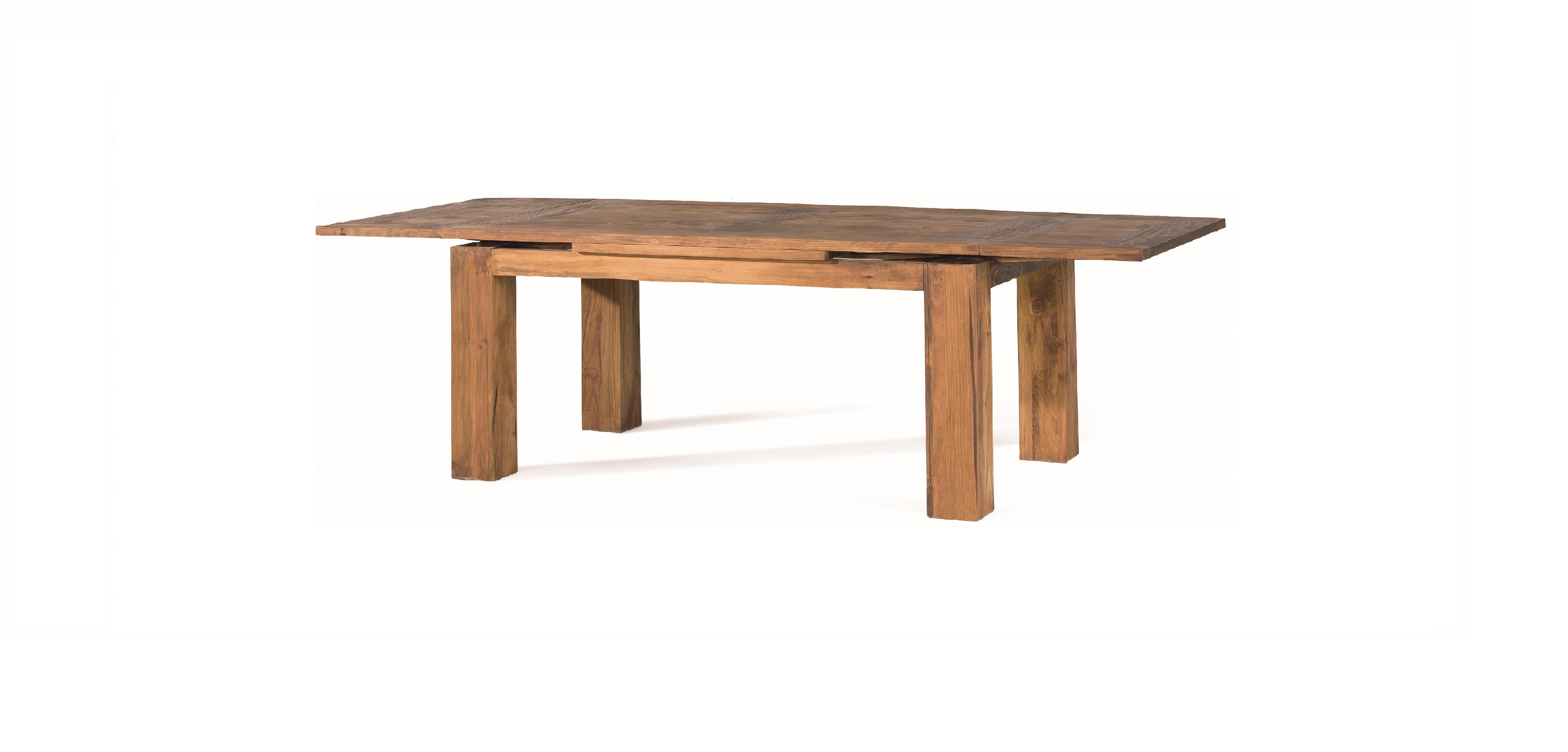 Mesa de comedor r stica extensible 50025 myoc f brica de muebles r sticos 100 madera maciza - Mesa comedor rustica extensible ...