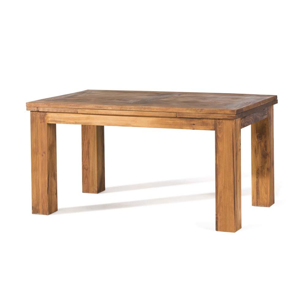 mesa de comedor extensible de madera