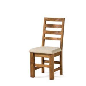 silla rústica tapizada