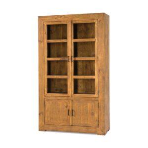 vitrina rústica de madera