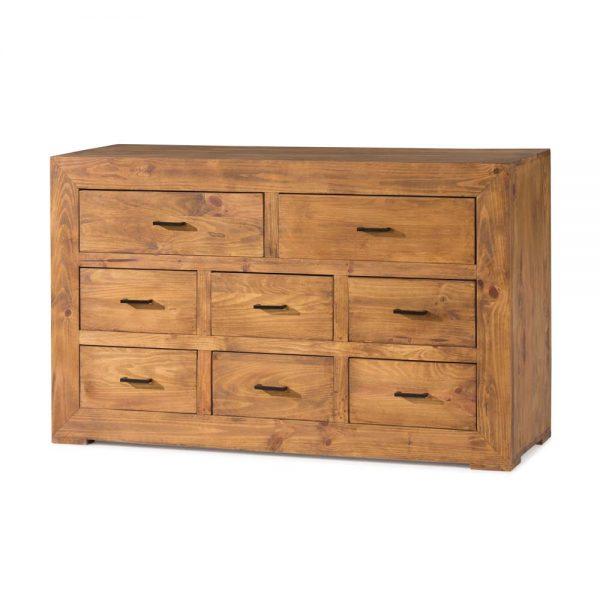 cómoda de madera maciza