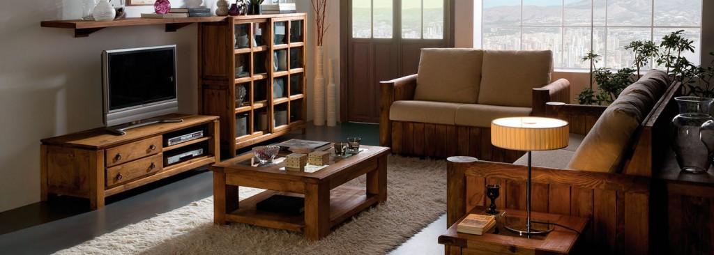 salón muebles rústicos