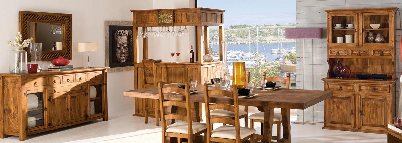 muebles rústicos madera maciza