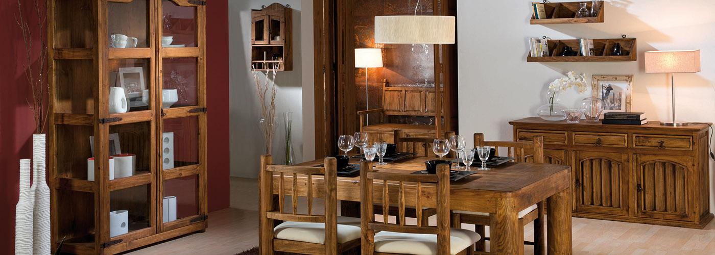 muebles rústicos comedor