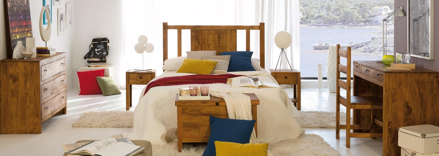 dormitorio rústico madera