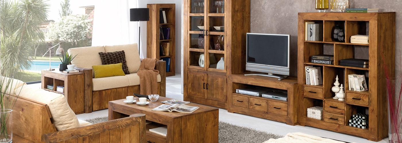 Vitrina r stica 50041 myoc f brica de muebles r sticos for Muebles de cocina de madera maciza catalogo