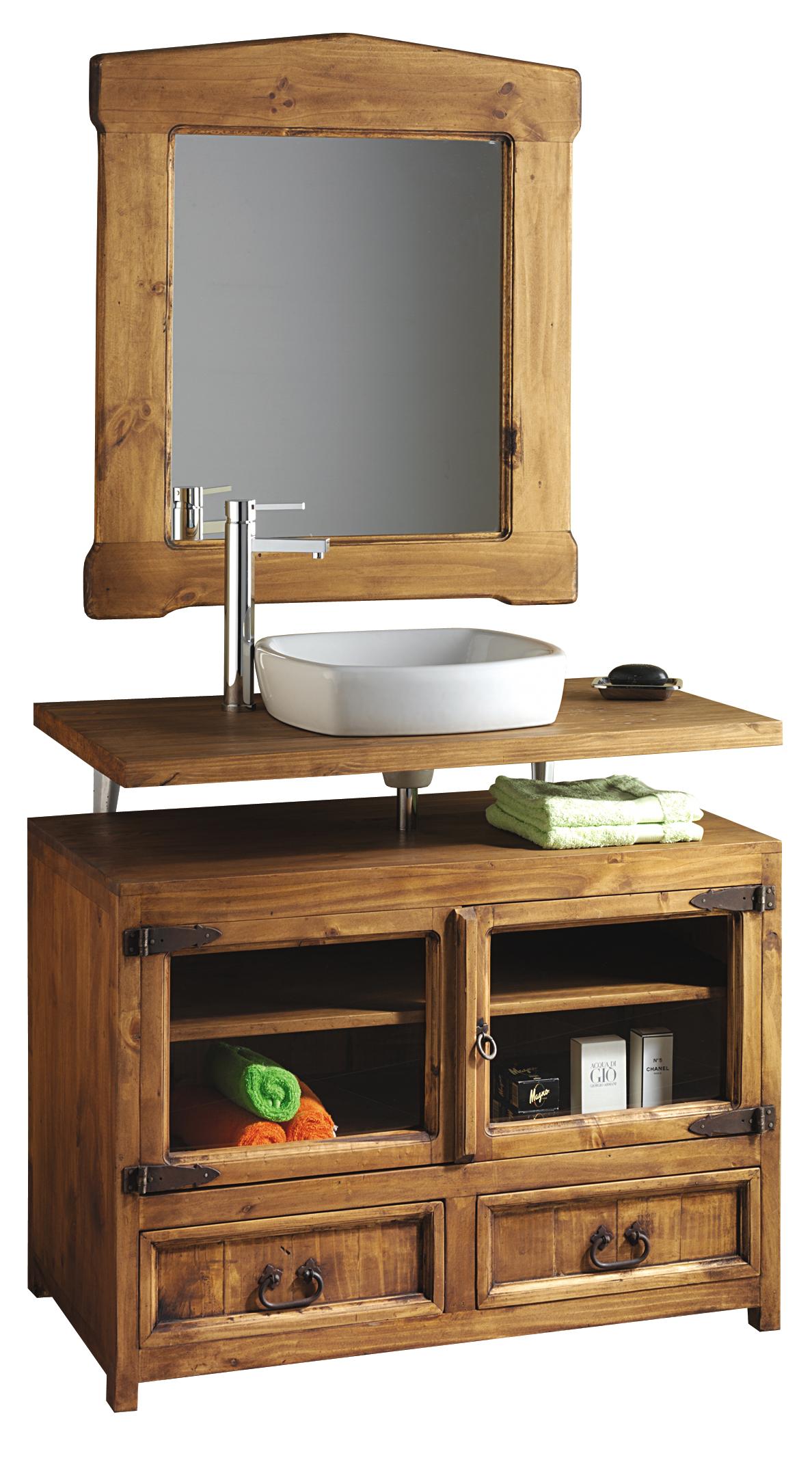 C moda ba o r stica troncos 24543 myoc f brica de muebles r sticos 100 madera maciza - Muebles bano madera maciza ...