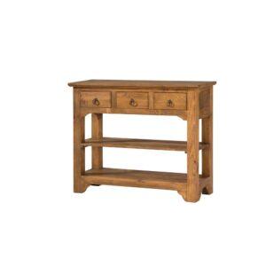 consola mueble rustico 3 cajones
