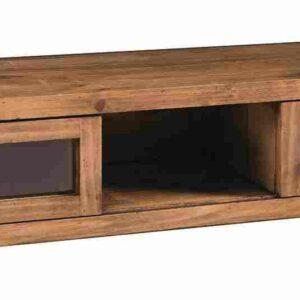 mesa tv de madera rústica