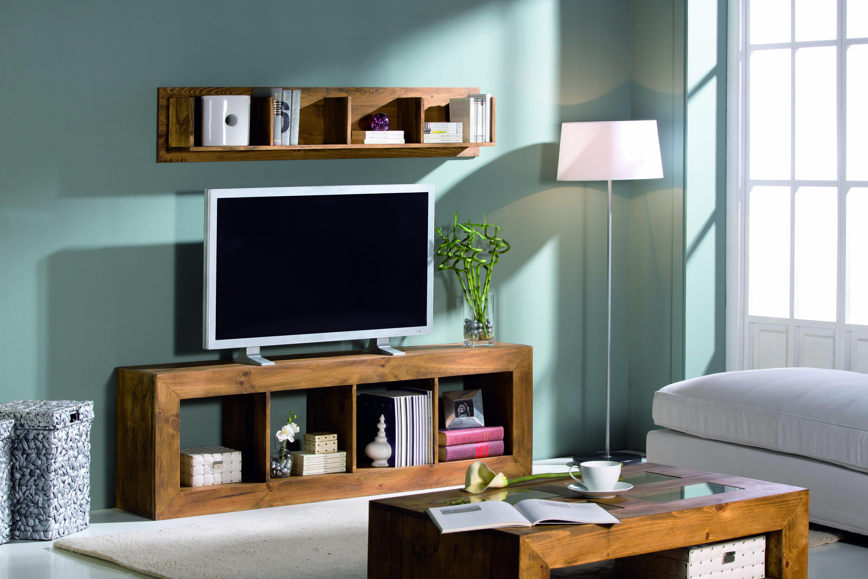 estantería madera rústica para tv