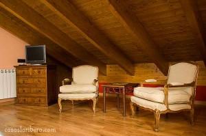 combinación muebles rústicos de madera