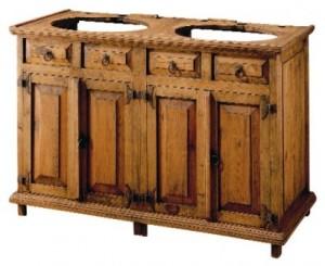 mueble madera baño 2 senos