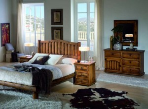 promocion mueble rustico dormitorio