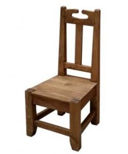 silla de madera rústica