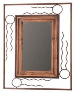 espejo rustico con forja