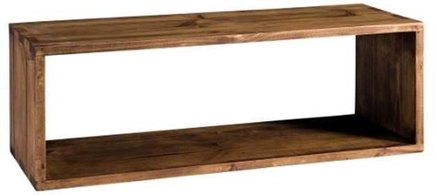 estanteria de madera rustica
