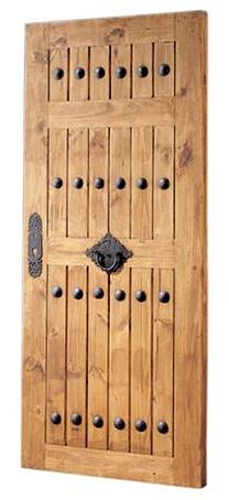 puerta exterior rustica