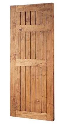 puerta interior rustica