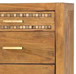 detalle mueble incrustaciones de mármol